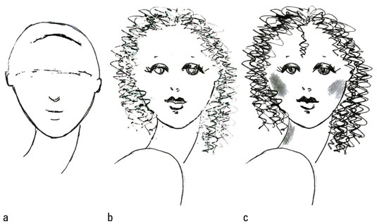 How to Draw Different Types of Fashion Hair - dummies