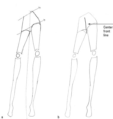 How to Draw a Basic Pair of Fashion Pants - dummies