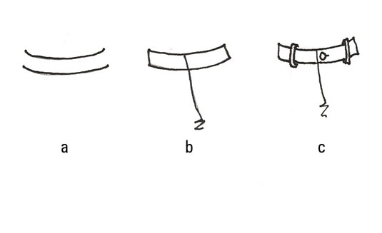 The steps of drawing the waistband, belt loops and fly of a pair pants.