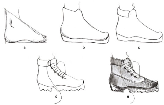 How To Draw Shoes On Fashion Sketches