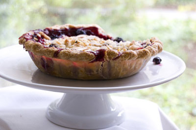 A berry pie near the window just oozes warmth and comfort. [Credit: Focal length: 55mm, Shutter spe