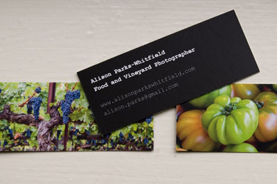Business cards with food images are great advertising tools.