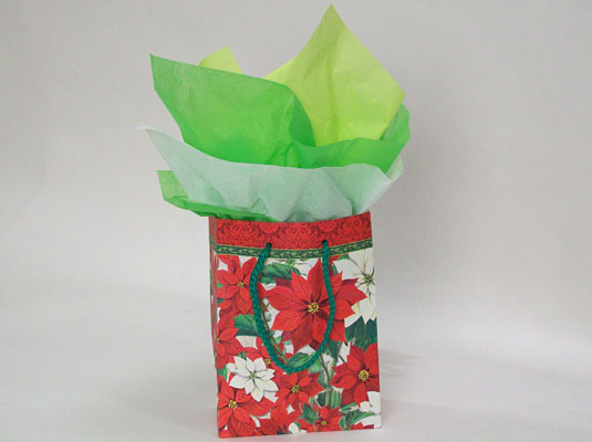 A present wrapped in a gift bag.