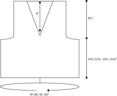 Finniquoy waistcoat schematic.