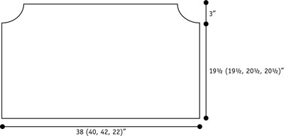 Regnbue cardigan schematic.