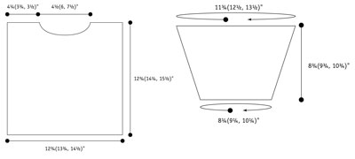 Crabby sweater schematic.