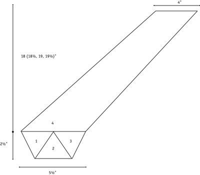 Spiral skirt schematic.