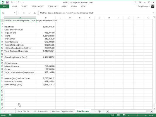 How to Change the Order of Your Excel 2013 Worksheets - dummies