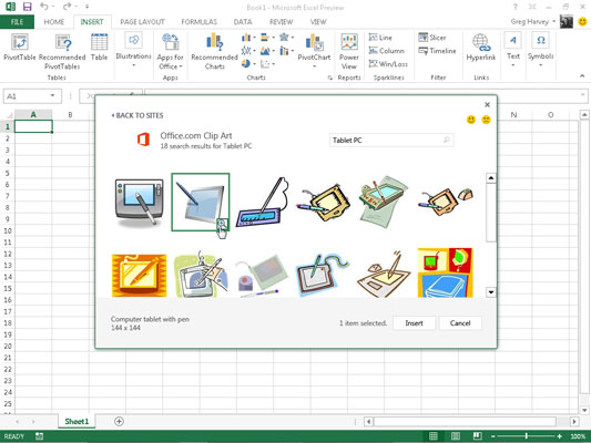How to Insert Clipart Images in Excel 2013 - dummies In Excel Com on