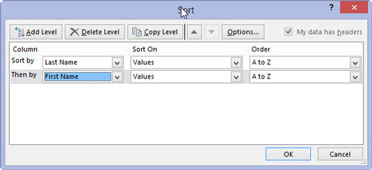 How to Sort Data Lists on Multiple Fields in Excel 2013