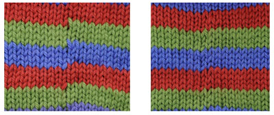 How to change colors when knitting socks