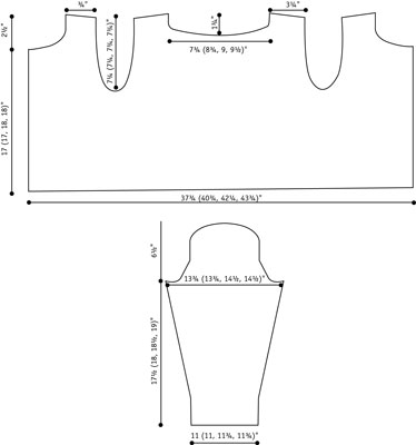 Flora cardigan schematic.