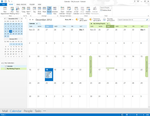 Outlook's Calendar module with all of your calendars.