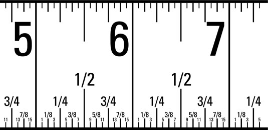 This particular tape measure design is perfect for many beehive plans because the markings include
