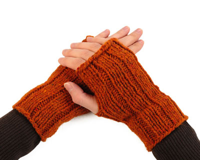 How To Knit Fingerless Mitts Dummies