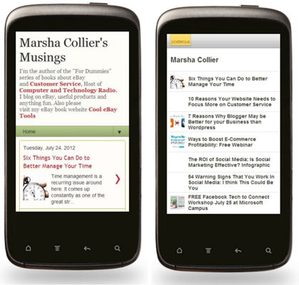 The mobile-optimized blogs.