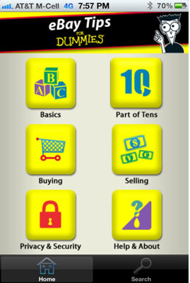 A publisher developed an eBay For Dummies book app.