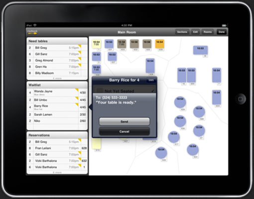 Reservation management on your iPad from Urbanspoon.
