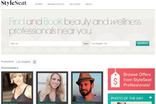 The StyleSeat website currently lists 55,000 wellness professionals.