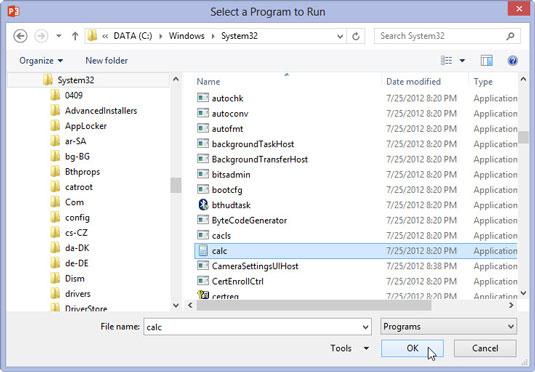 how to run software through cmd