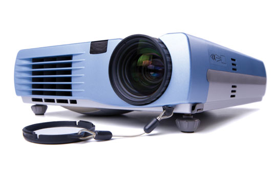 An LCD projector.