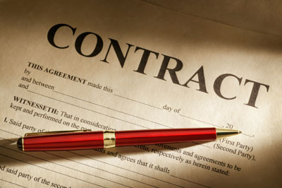 A blank contract.