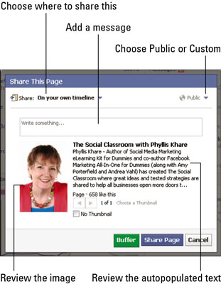 How to Share Your Business's Facebook Page - dummies