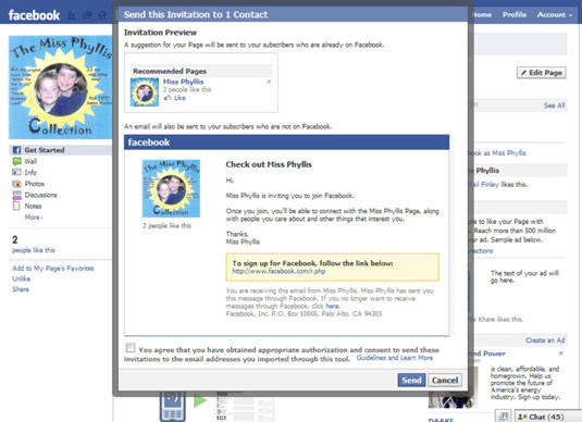 how to invite e mail contacts to your facebook business page dummies