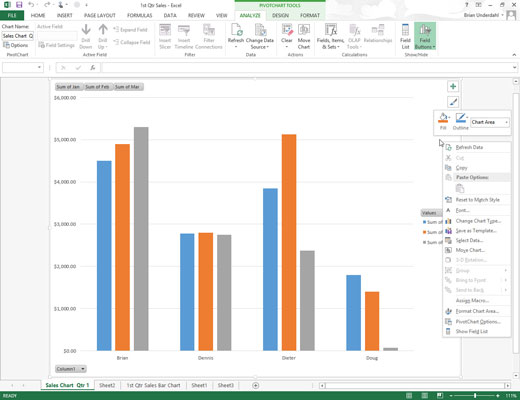How To Save A Customized Chart As An Excel 2013 Template
