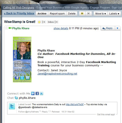 How to Add Your Facebook Page Address to Your E-mail