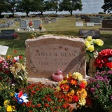 Over 50 years after his death, women still don red lipstick to kiss the grave of James Dean in Fairmount, Indiana.