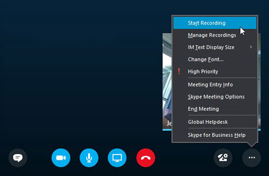 how to record skype for business meetings