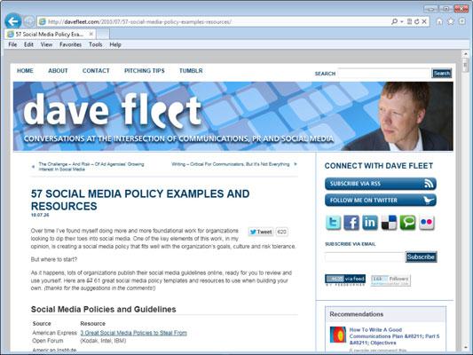 Dave Fleet's blog.