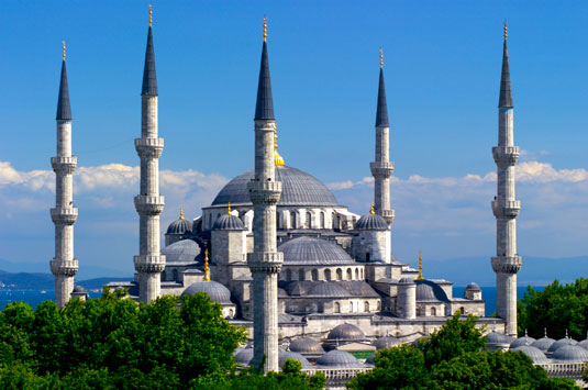 The Blue Mosque, in Turkey.