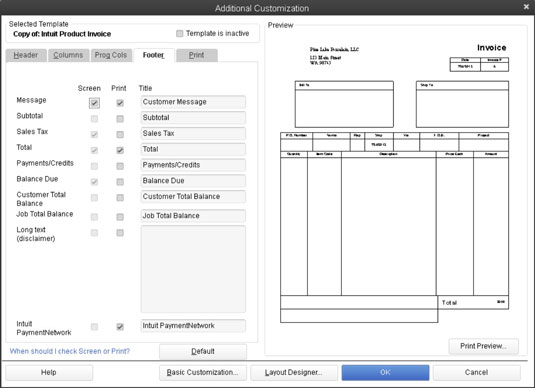 choose a quickbooks 2013 invoice template to customize dummies