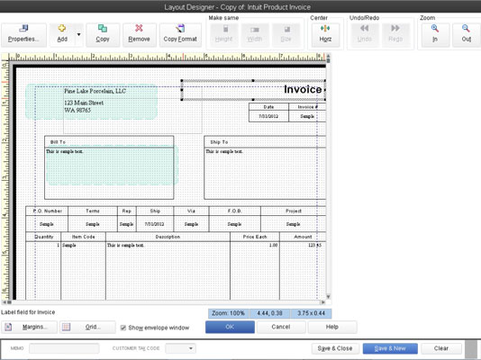 Customize QuickBooks Invoices With The Layout Designer Tool - Quickbooks invoice envelope size