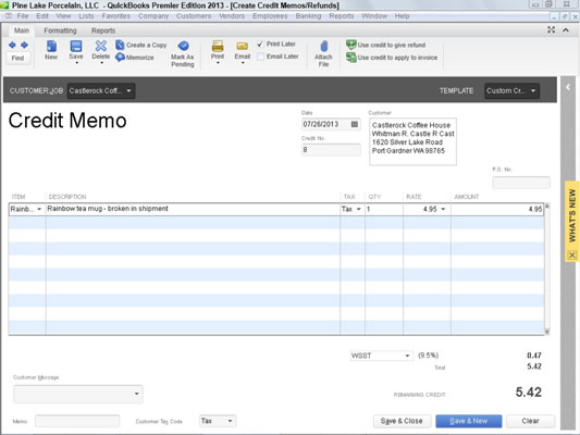 as is the case with invoices you can create custom credit memo forms to do this you click the customize button