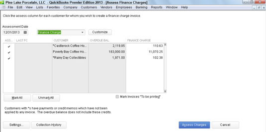 How To Assess Finance Charges With QuickBooks Dummies - Quickbooks invoice fees