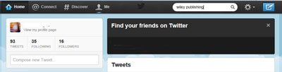 Twitter's home page