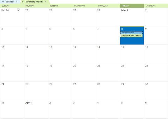 Superimposed calendars in Outlook 2013.