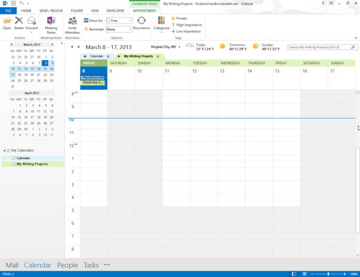 You can choose how many days you view in your Outlook calendar.
