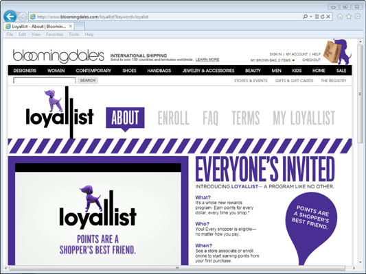 Bloomingdale's Loyallist program.