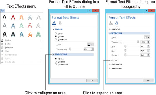 How to Apply Fun Text Effects in Word 2013 - dummies