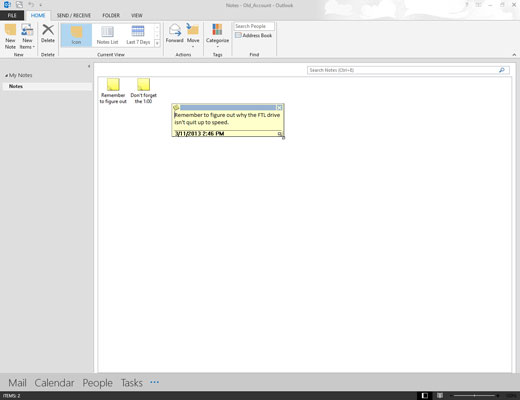 Change the size of the note box by dragging the mouse across the screen.