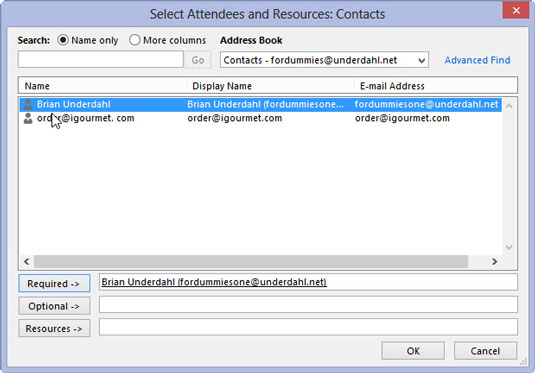 how to add a person to outlook meeting