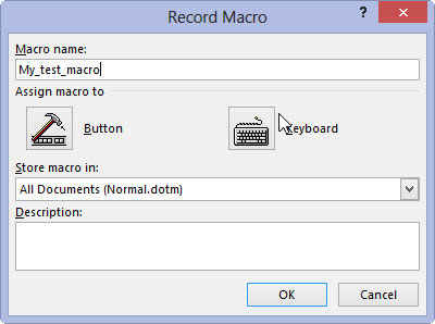 assign macro to command button