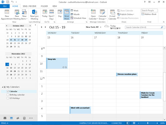 How to Change the Dates of Appointments in Outlook 2013
