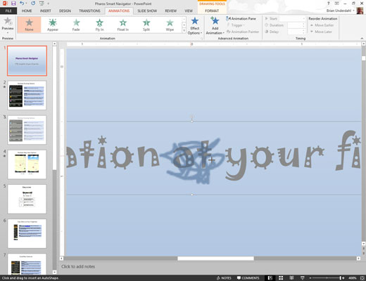 how to make image in powerpoint enter separately