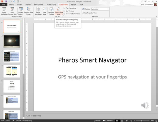 How to navigate powerpoint to create a slide presentation