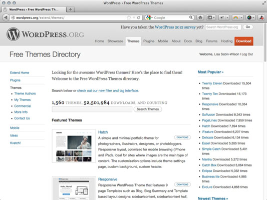 Choose a Free WordPress Theme for Your Blog - dummies